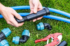 Irrigation sprinkler installations